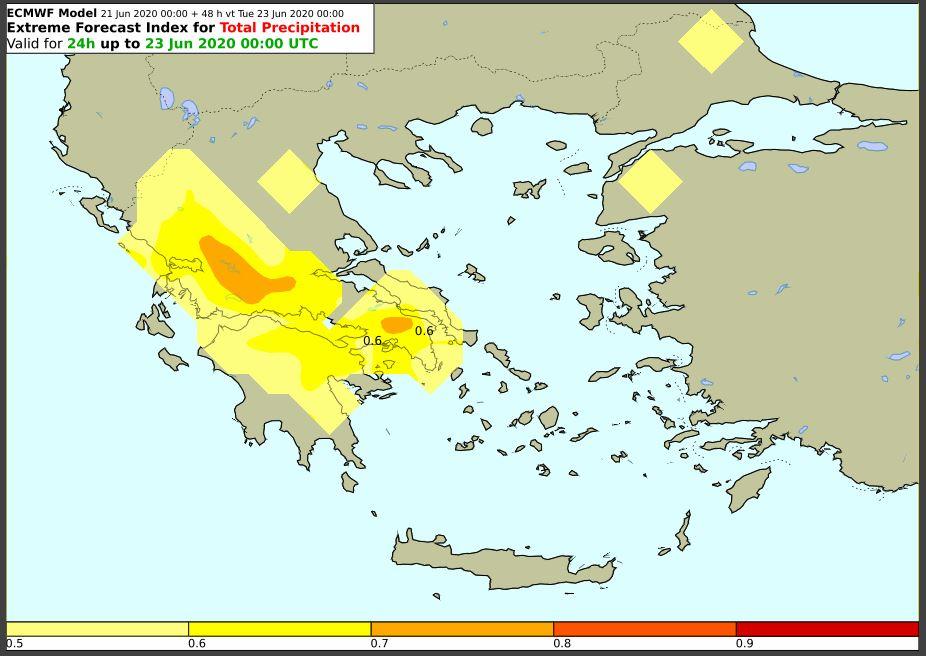 Καιρός-ΕΜΥ: Πιθανότητα για μεγάλα ύψη βροχής στην Αθήνα και άλλες περιοχές τη Δευτέρα -Δείτε χάρτες | ΕΛΛΑΔΑ